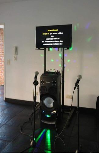 alquiler karaokes con luces  envios sin cargo zona norte