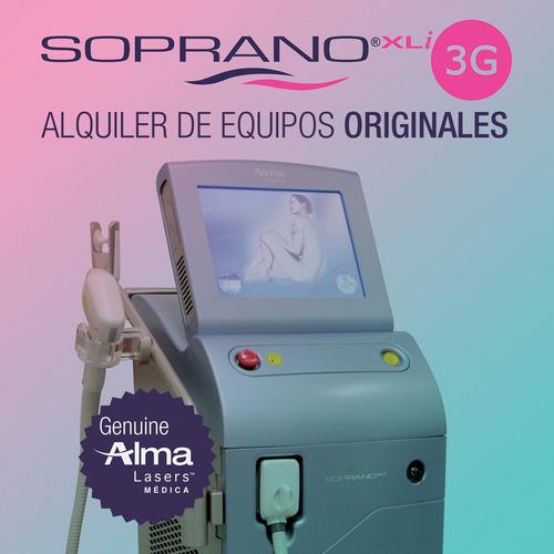 alquiler laser soprano cabezal speed ice xli 3g