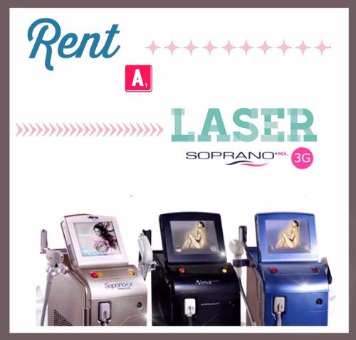 alquiler laser soprano xli 3g blue 2016 !!! cabezal speed !!