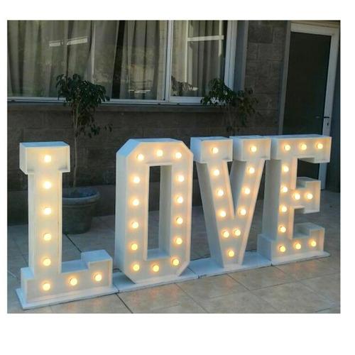 alquiler letras gigantes luminosas palabra love ( completa)