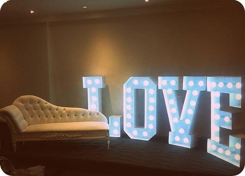 alquiler letras love - casamiento, fiesta, vintage, shabby