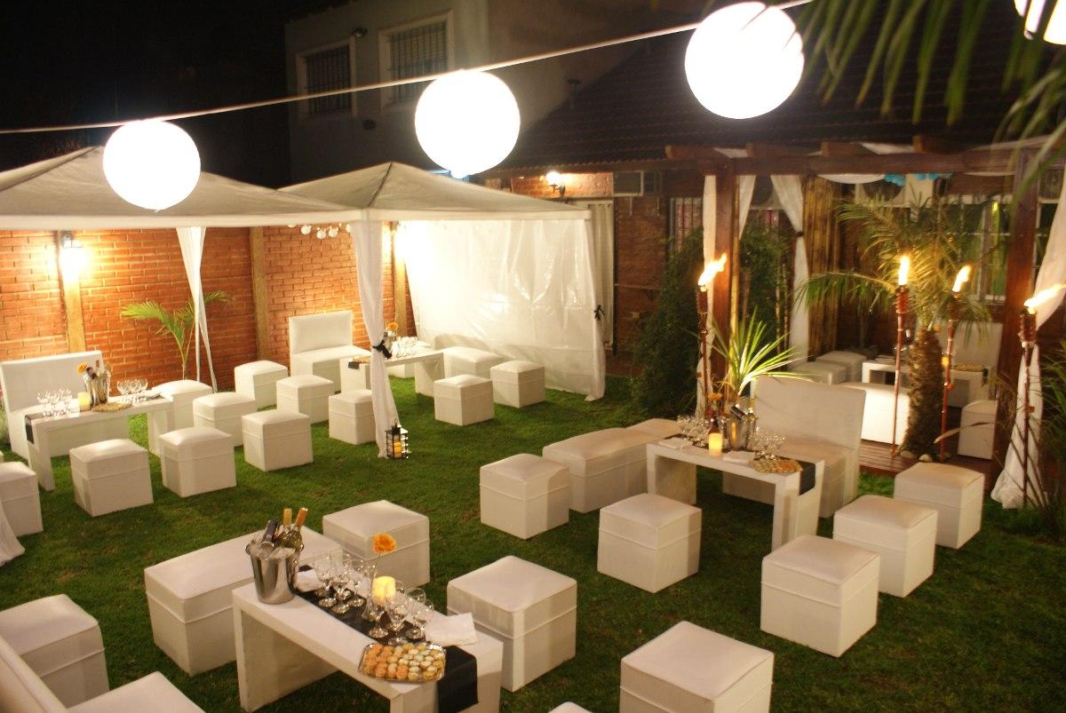 Alquiler de living puff para eventos en mercado libre for Alquiler decoracion bodas