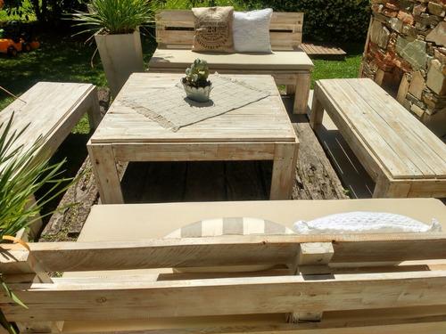 alquiler living rústico pallet altar de bodas ambientaciónes