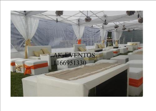 alquiler living ,sillas calefaccion carpas inflables metegol