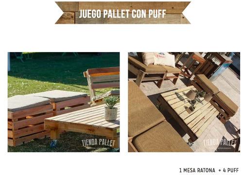 alquiler livings de madera reciclada pallet- unicos!!