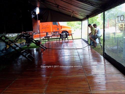 alquiler livings gazebos carpas calefaccion pisos puff