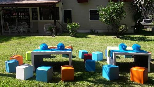 alquiler   livings infantiles $ 250  mas regalo 2 pompones
