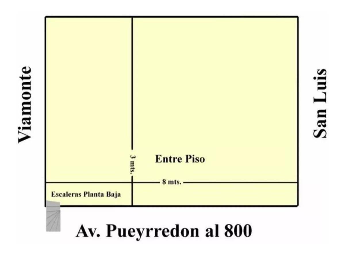 alquiler local av. pueyrredon 870. total 270 m2
