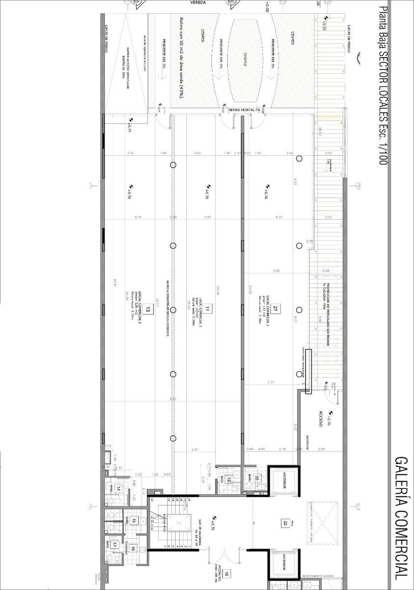 alquiler local comercial 126 m2  sobre avenida de carrasco