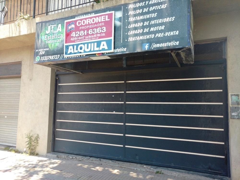 alquiler - local sobre avenida - 6 x 8 - monte grande