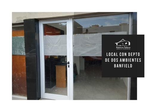 alquiler local u oficina con departamento interno. banfield