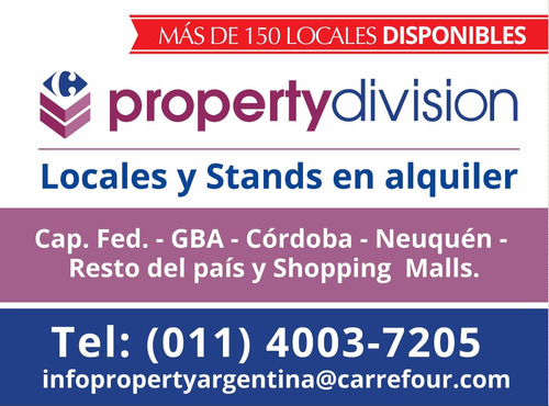 alquiler local y stands en centro comercial terrazas de mayo