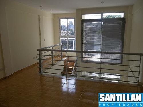 alquiler - loft 2 amb c/cochera - s. justo centro