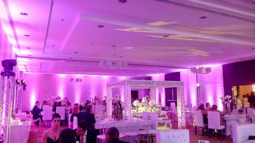 alquiler luces leds decorativas colores movil par led beam