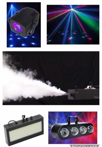 alquiler luces, maquina de humo, sonido, karaoke, luz negra