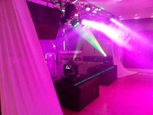 alquiler luces neon sonido carpa pantallas led karaoke humo