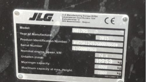 alquiler manipulador telescópico marca jlg modelo 4017rs