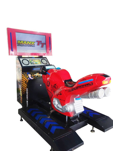 alquiler máquina de video juegos moto manx tt - super bike