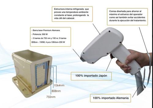 alquiler maquina depilación definitiva laser platin trio ice