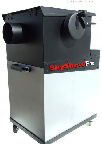 alquiler maquina lanza papel espuma humo bajo jet co2 nieve
