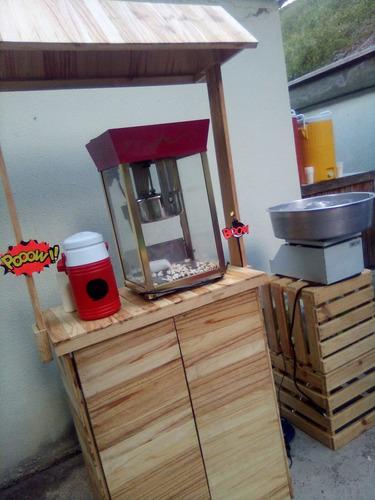 alquiler máquinas de algodón de azúcar, cotufas y mobiliario