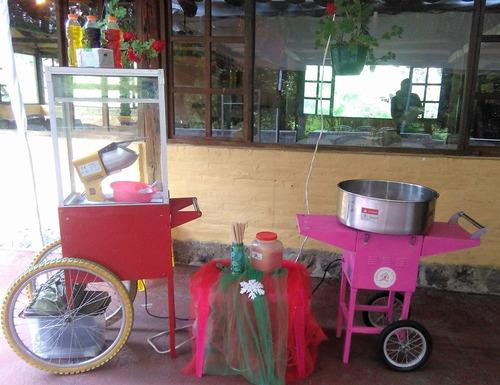 alquiler maquinas de algodón de azúcar y canguil quito