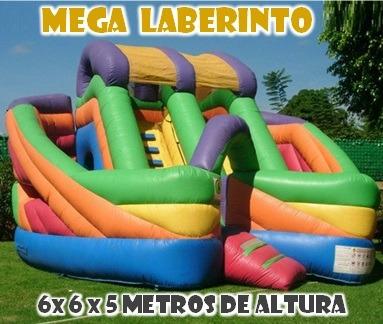 alquiler mega inflables - laberinto - toro - samba - reloj