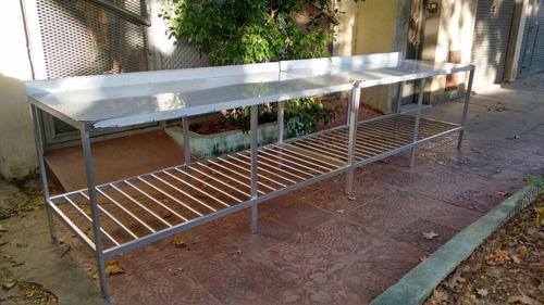 alquiler  mesa y mesada con bacha  de acero inoxidable