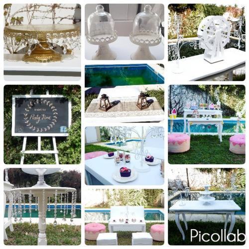 alquiler mesas, estructuras y decoración candy bar