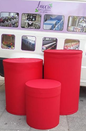 alquiler mesas para candy bar, fondo mesa y bases, mesa cubo