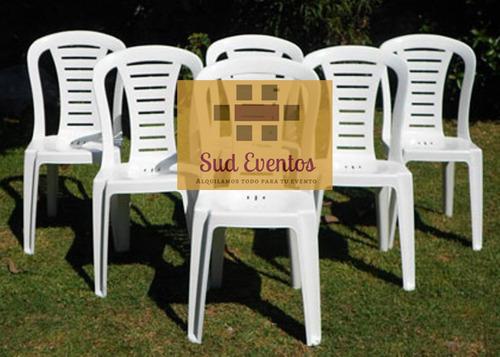alquiler mesas sillas tablones zona sur