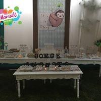alquiler mesas vintage blancas / marrones