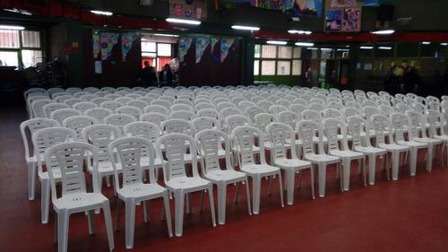 alquiler mesas y sillas plásticas /  whatsapp 1554564192