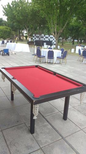 alquiler metegol pool ping pong tejo inflable  plaza blanda