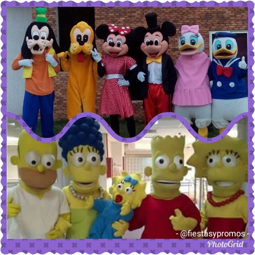alquiler mickey,minnie,minions,inflables,elasticashowfiestas