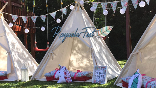 alquiler mini puff living carpa tipi pijamada plaza blanda
