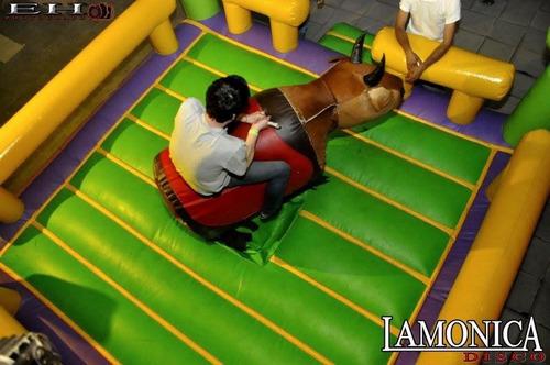 alquiler mini samba, bunggy jumping, toro y reloj loco