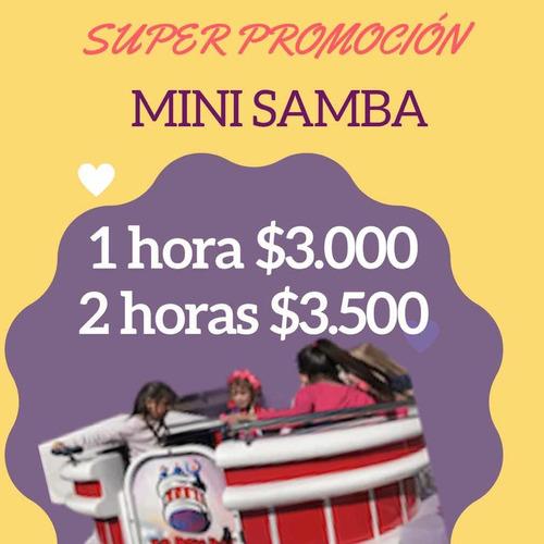 alquiler mini samba - inflables - toro mecánico