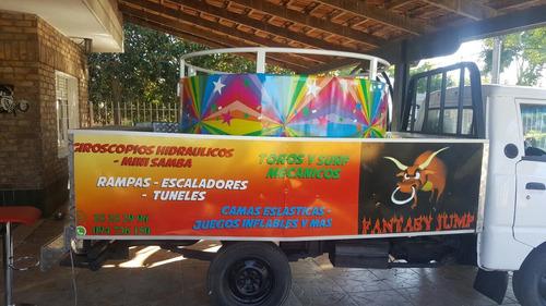 alquiler mini samba torosmecanicos,surf,,giroscopios,helados
