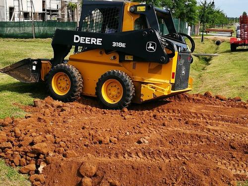 alquiler minicargadora movimiento de suelo tosca platea
