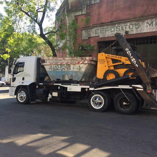 alquiler minipala cargadora  volcadores movimiento de pisos