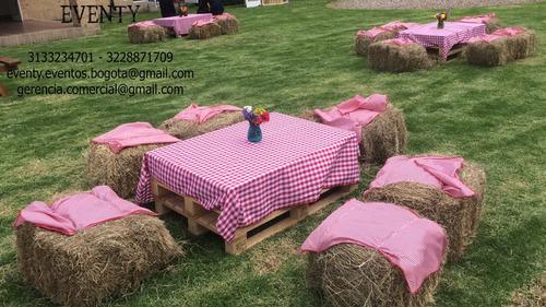 alquiler mobiliario  mesas picnic - estibas - henos  bogota