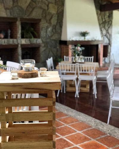 alquiler mobiliario mesas,pallet,vintage,sillas,puff,toldos