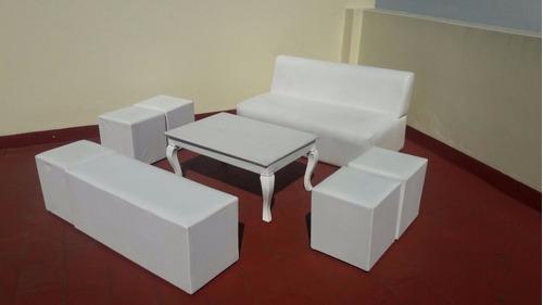 alquiler muebles, carpas, livings,sillas altas,puffs stands