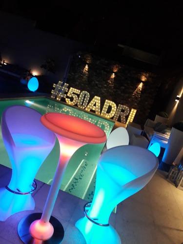 alquiler muebles led luminosos barras pista de baile livings