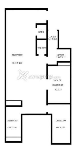 alquiler oficina de 4 ambientes en centro/microcentro