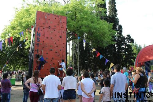 alquiler palestra, muro de escalada, puentes,eventos, fiesta