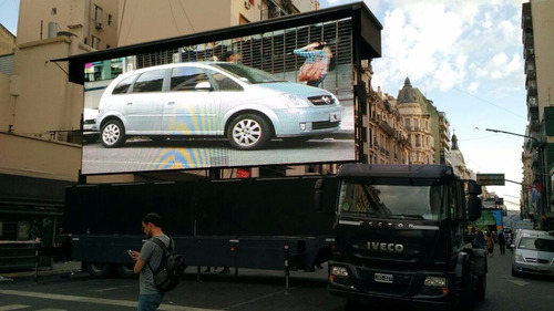 alquiler pantalla gigante movil led 10x5 camion camionetas