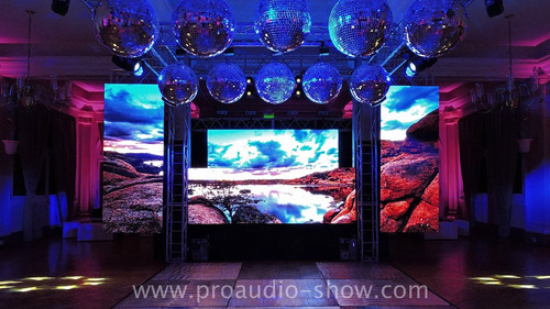 alquiler pantalla led, pisos led, dj, pistas acero, eventos