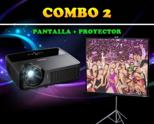alquiler pantalla- proyector luces sonido karaoke nieve